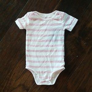Aden + anais striped short sleeve onsie